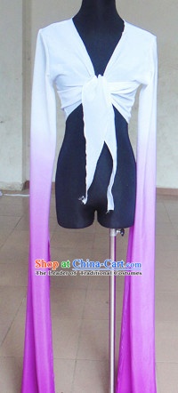 White to Black Chinese Classic Water Sleeve Dance Costumes for Women or Girls