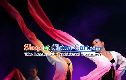 Professional Chinese Classical Water Sleeve Dance Costumes for Women Adults Kids