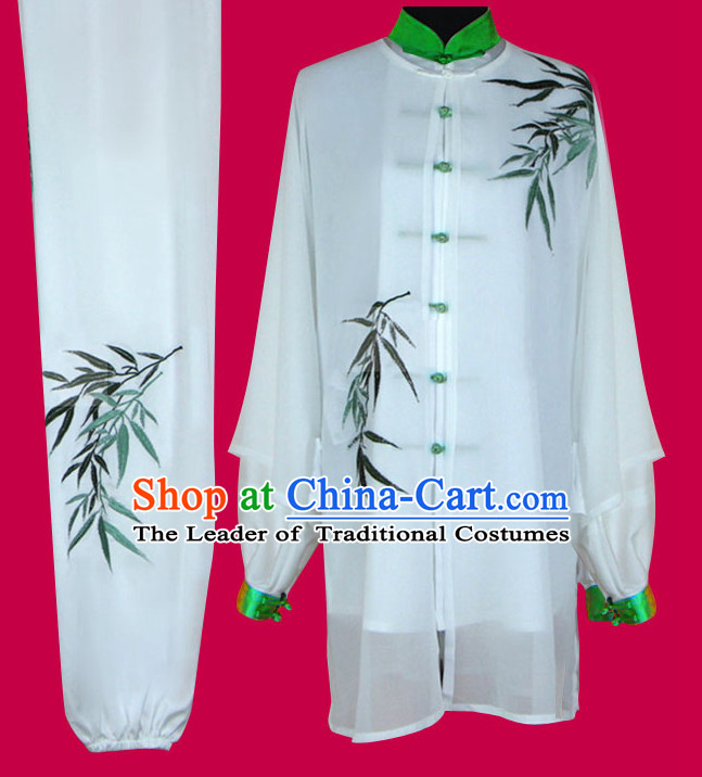 Embroidered Bamboo Tai Chi Taiji Competition Uniform Outfits