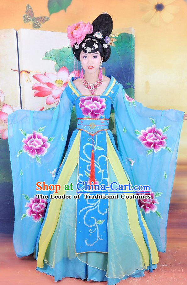 Ancient Chinese Empress Dress Costumes and Hair Jewelry Complete Set for Women Girls Adults KIds