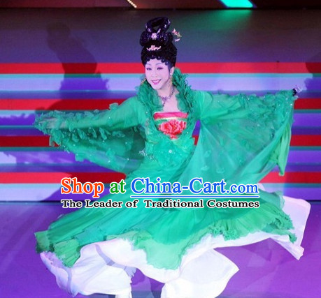 Ancient Chinese Empress Dresses Costumes and Hair Jewelry Complete Set for Women Girls Adults KIds