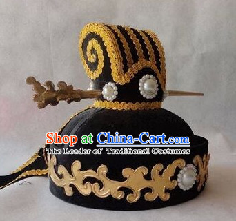 Handmade Ancient Traditional Chinese Embroidered Emperor Hat