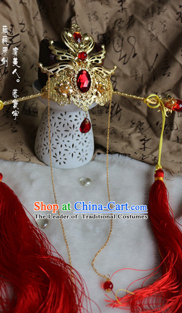 Ancient Chinese Emperor Prince Crown Headpieces