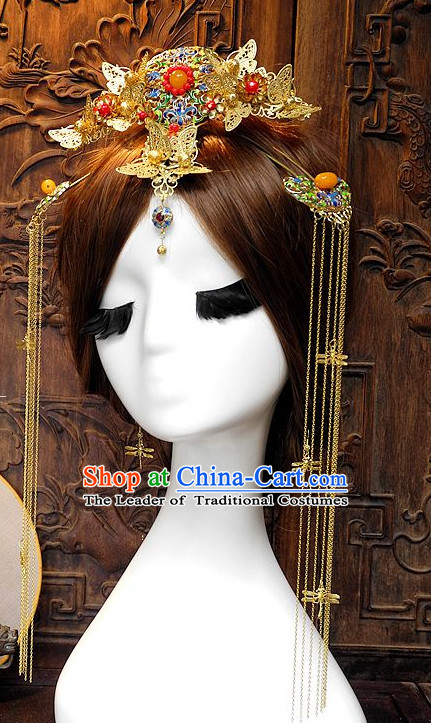 Ancient Chinese Empress Princess Queen Hair Style Accessories Hair Sticks Clips Hair Pin Hair Pieces Combs Ancient Chinese Chopsticks Asian Wedding Bridal Hair Ornaments