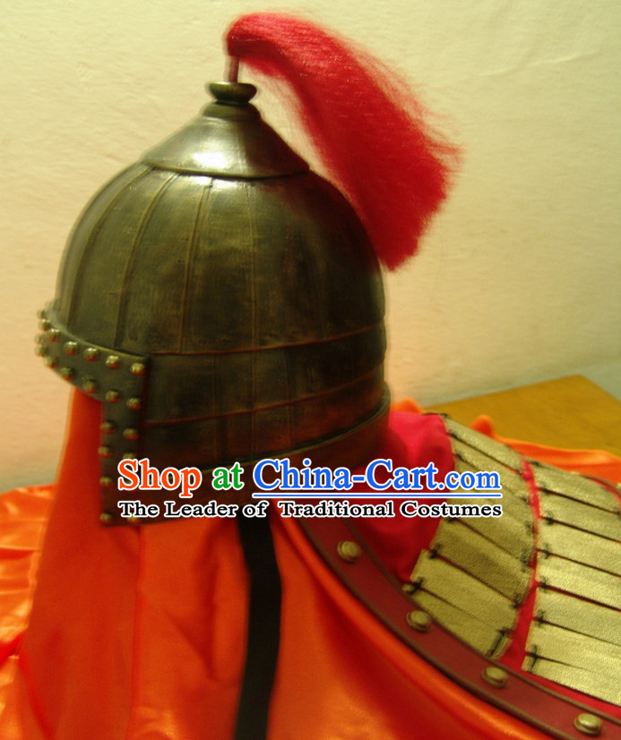 Ancient Chinese General Fighter Helmet Hat for Men
