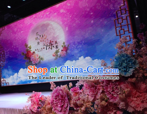 Beautiful Peony Flower Stage Decoration Props