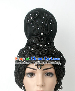Asian Ancient Classical Empress Princess Hairpins Hair Accessories and Wig Set