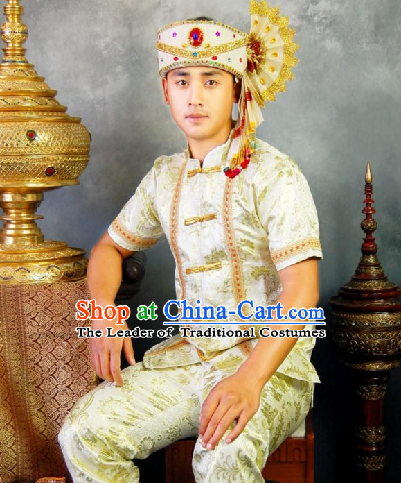 Traditional National Thai Dress Thai Traditional Dress Dresses Wedding Dress online for Sale Thai Clothing Thailand Clothes Complete Set for Men Boys Youth