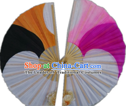 Traditional Hands Painted Chinese Fans Oriental Fan Folk Dance Hand Fan Dance Ribbons Cultural Dances