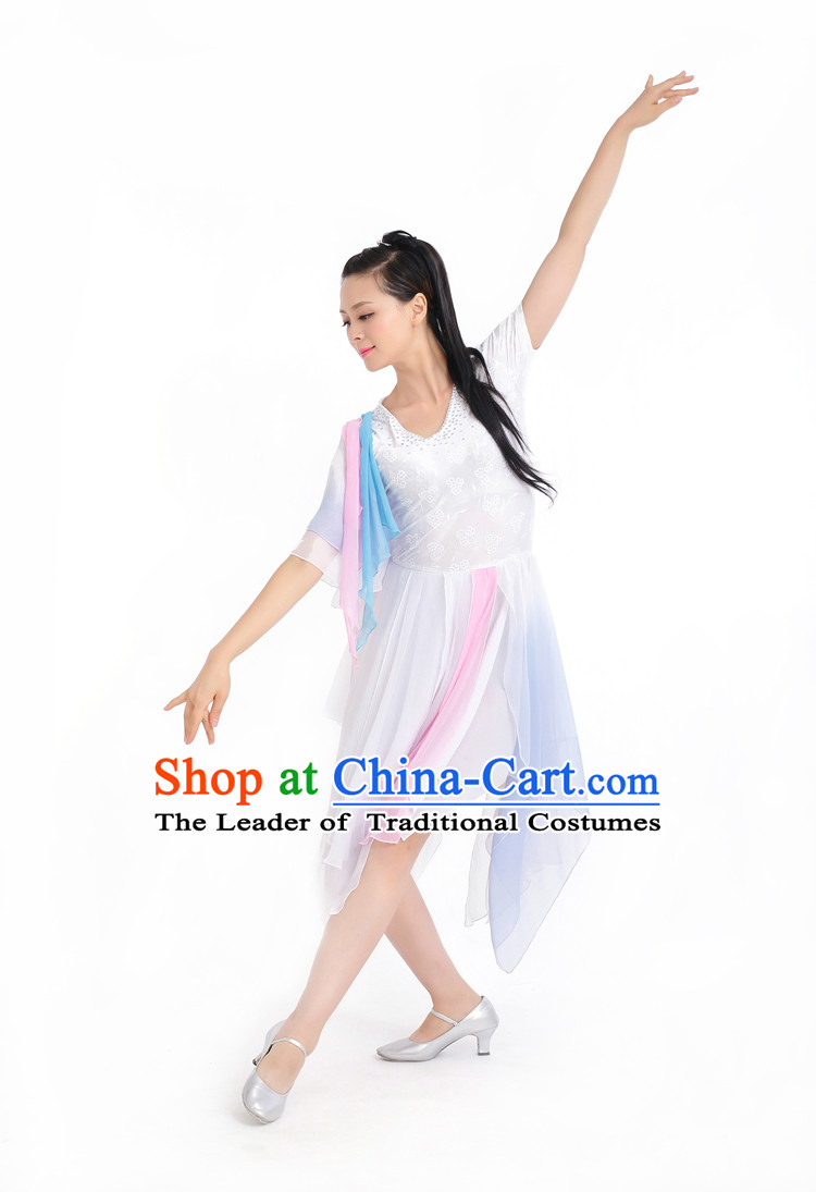 Chinese Competition Stage Classical Dance Costumes Female Dance Costumes Folk Dances Ethnic Dance Fan Dance Dancing Dancewear for Women