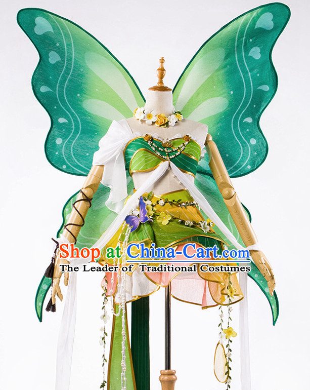 Traditional Chinese Butterfly Dancewear Costumes Fancy Dancer Costumes Girls Dance Lyrical Dance Costume Ballroom Comtemporary Recital Dancewear Costume
