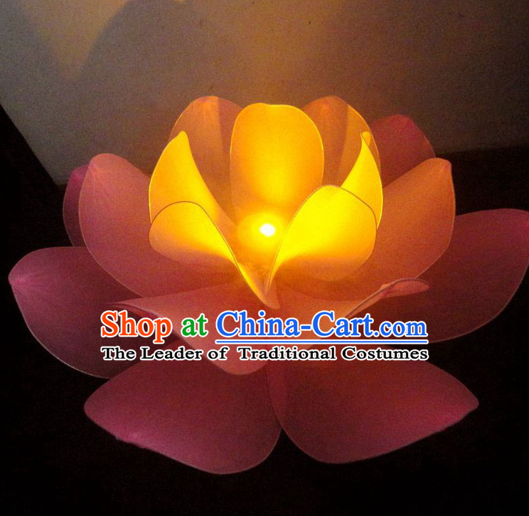 0.8 Meter Traditional Chinese Stage Performance Luminous Flower Dance Props Dancing Prop