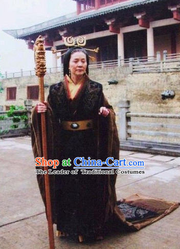 Han Dynasty Cantonese Drama Female Queen Garment Costumes Complete Set