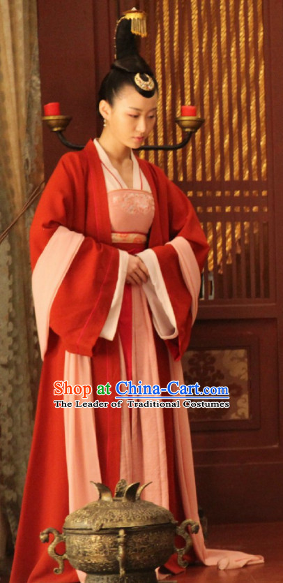Ancient Chinese Style Palace Maid Costume Dress Authentic Clothes Culture Han Dresses Traditional National Dress Clothing and Headdress Complete Set