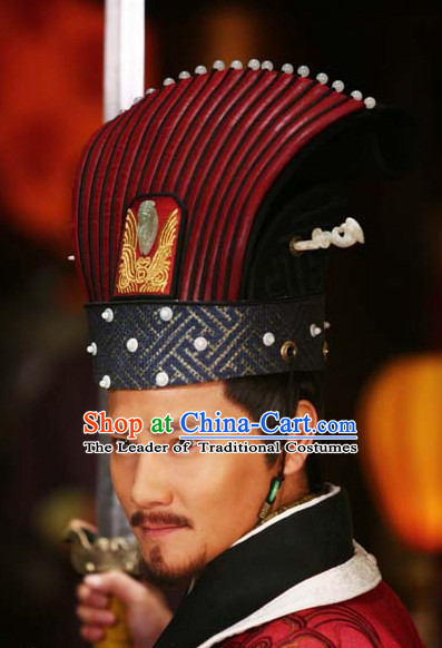Ancient Chinese Style Emperor Hat for Men