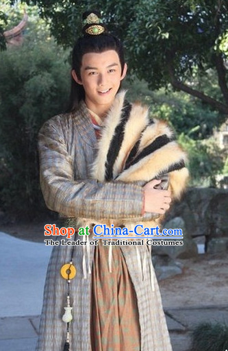 Ancient Chinese Style Knight Superhero Male Costumes Complete Set for Men or Boys