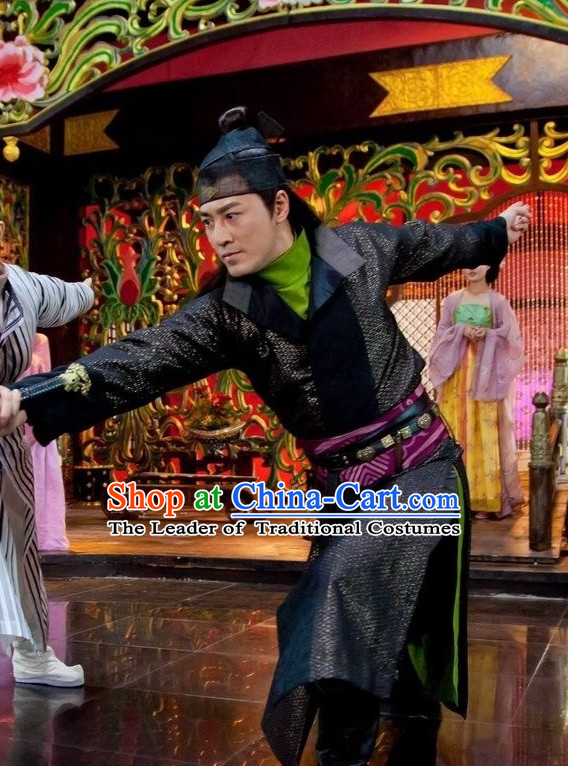 Traditional Chinese Style Wuxia Clothing Complete Set for Men