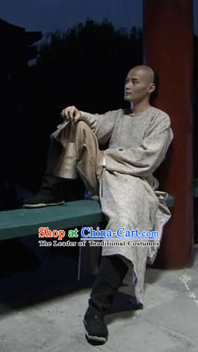 Traditional Chinese Ancient Hanfu Male Robe Clothes Complete Set