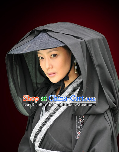 Traditional Ancient Chinese Style Knight Black Hat for Women and Men