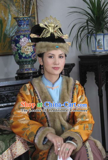 Chinese Traditional Style Princess Noblewoman Hat with Phoenix Headpieces Hairpieces Hair Jewelry