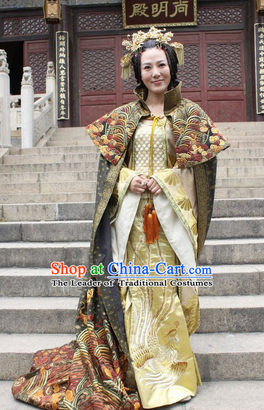 Custom Made Ancient Chinese Style TV Drama Film Princess Clothing and Hairpieces Complete Set