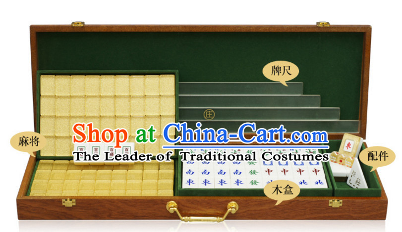 High Quality Heavy Density Chinese Taiwan Bamboo Mahjong Complete Set