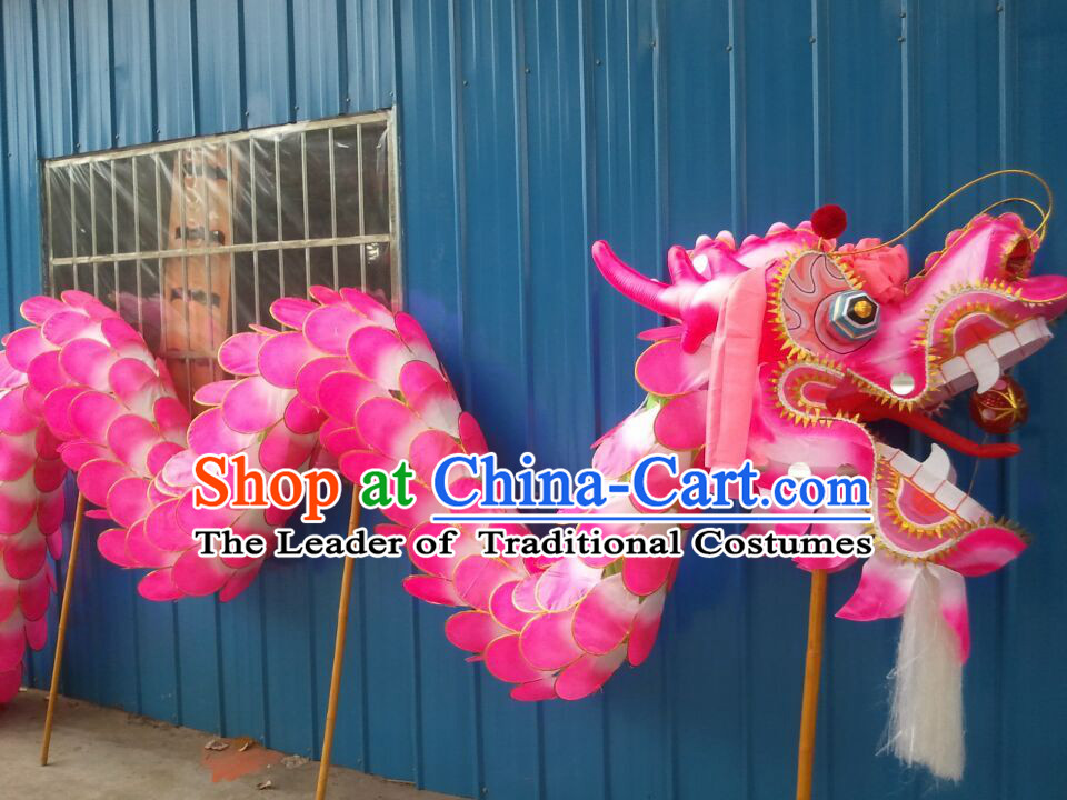 Best Beijing Olympic Games Opening Traditional Lotus Dragon Dance Costumes Complete Set