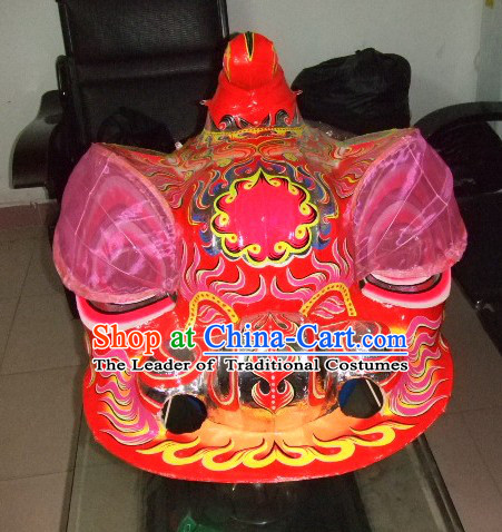 Top Chinese Classic 100% Natural Long Futsan Style Lion Dance Costumes Complete Set