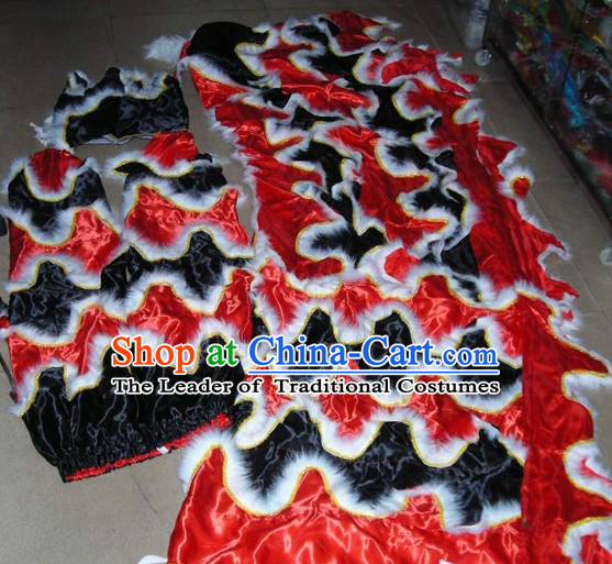Chinese Traditional Lion Body Costumes Pants Claws Set