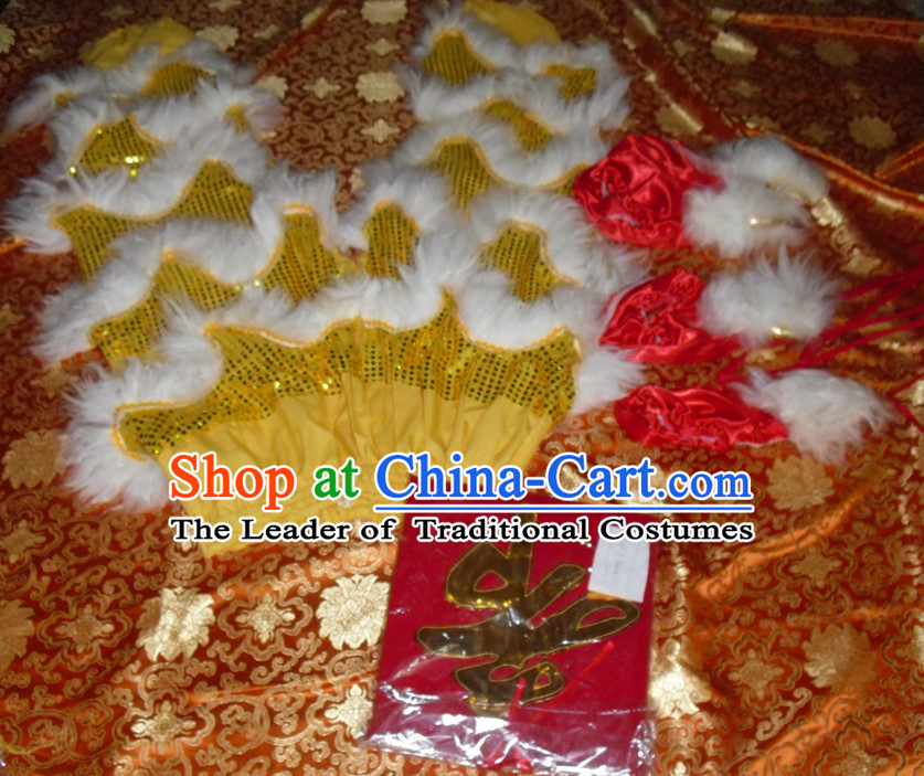 Top Asian Chinese Lion Dance Troupe Performance Suppliers 2 Pairs of Pants and Claws