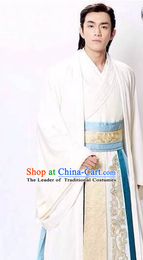 Ancient Chinese Superhero Zhao Zilong Costumes Garments Complete Set for Men