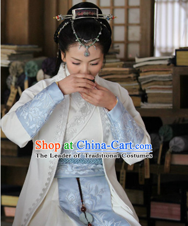 Ancient Chinese Swordsman Costumes Kung Fu Master Costume Complete Set for Women