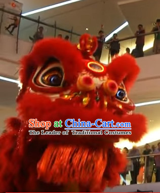 Red Chines Gong Xi Fa Cai Style Red Hok San Lion Dance Equipments Complete Set