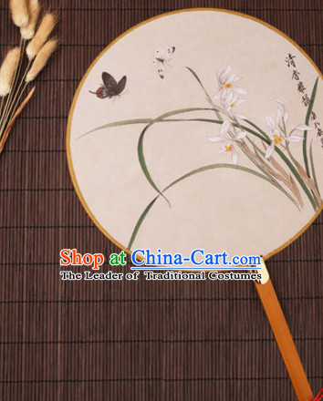 Chinese Traditional Classic Handmade Butterfly Gong Shan Palace Fan Round Fan Mandarin Fan Dance Fan