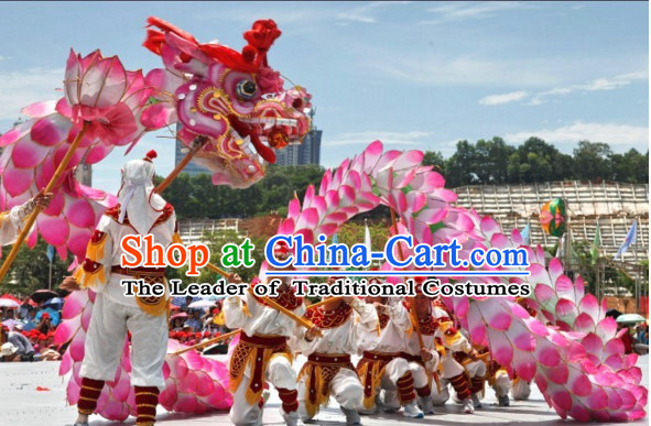 2008 Beijing Olympic Games Opening Dragon Most Beautiful Best Opening and Festival Celebration Handmade Supreme Chinese Dragon Dance Costumes Complete Set