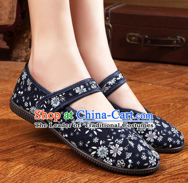 Top Chinese Traditional Tai Chi Shoes Kung Fu Shoes Martial Arts Fabric Shoes for Women