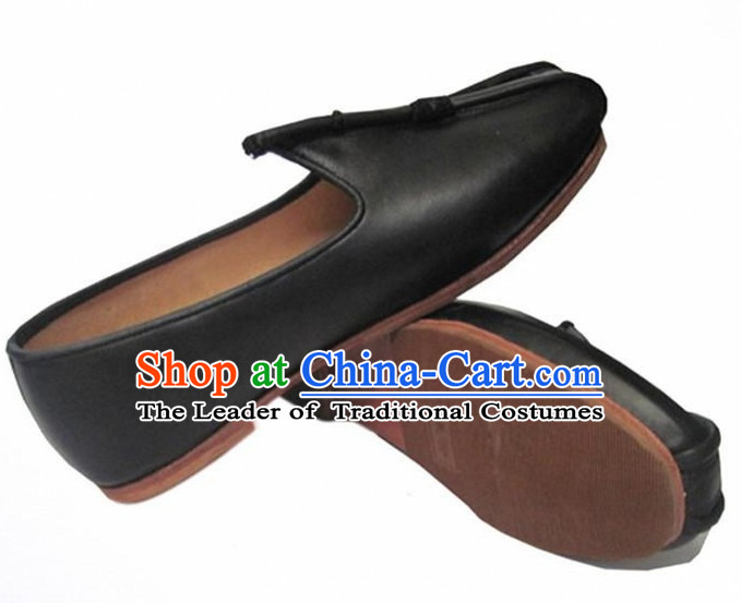 Top Chinese Classic Traditional Leather Kungfu Master Tai Chi Shoes Kung Fu Shoes Martial Arts Shoes for Women