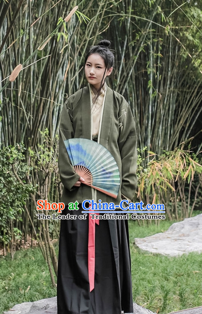 Traditional Asian Chinese Hanfu Garment Han Fu Clothes for Men or Women