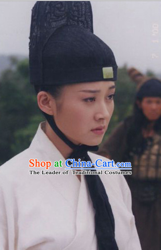 Chinese Ancient Xiao Ao Jiang Hu TV Series Ren Yingying Black Hat