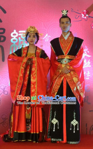 Chinese Ancient Style Wedding Ceremony Brides and Bridegroom Wedding Dresses Complete Set for Women