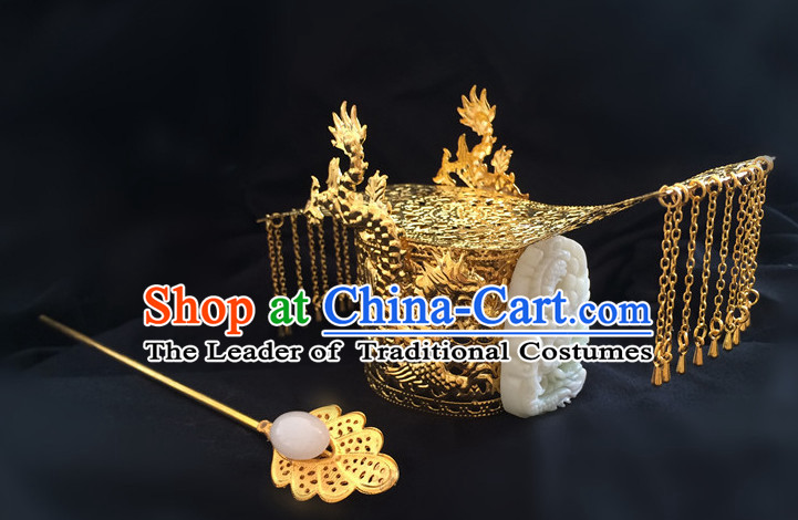 Ancient Chinese Style Emperor Dragon Coronet for Men or Boys