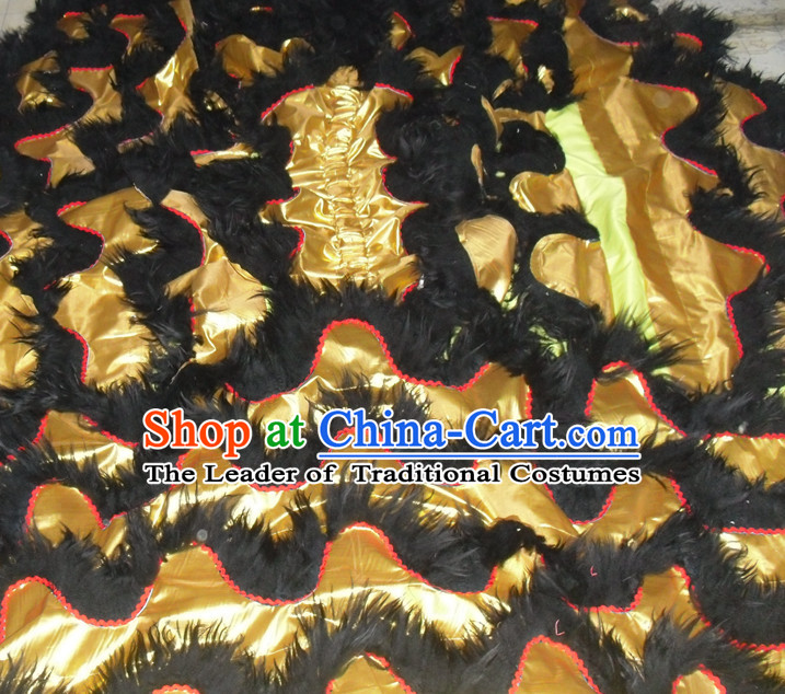 Top Asian Chinese Lion Dance Pants Claws Tail Body Costumes Set