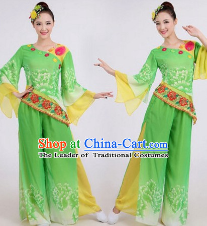 Light Green Chinese Traditional Dance Costumes Dancing Outfits for Women or Girls