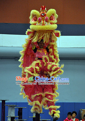 Supreme 100% Natural Wool Chinese Southern Lion Dance Equipments Complete Set