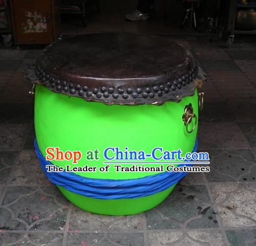 Luminous 24 Inches Chinese Traditional Big Lion Dance Wooden Drum