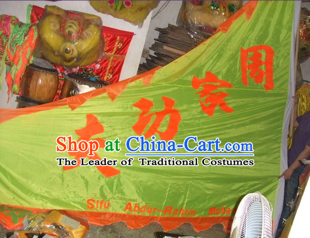 Traditional Chinese Lion Dance Dragon Dance Big Triangle Banner Giant Flag