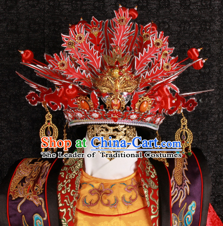 Top Chinese Ancient Phoenix Coronet Crown for Brides