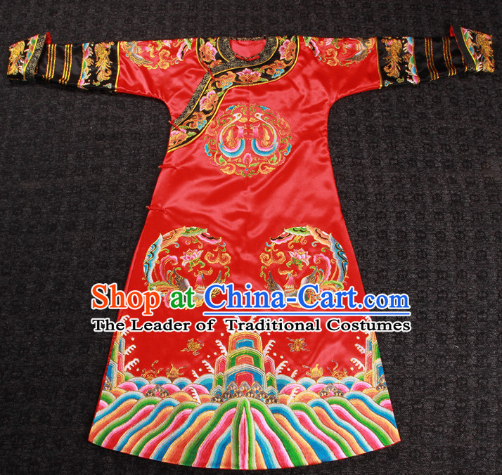 Top Chinese Ancient Bridal Wedding Dresses Complete Set for Women Brides
