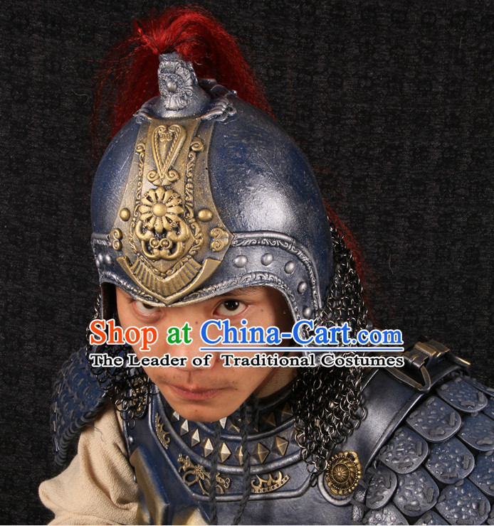 Top Chinese Ancient General Armor Helmet Hat