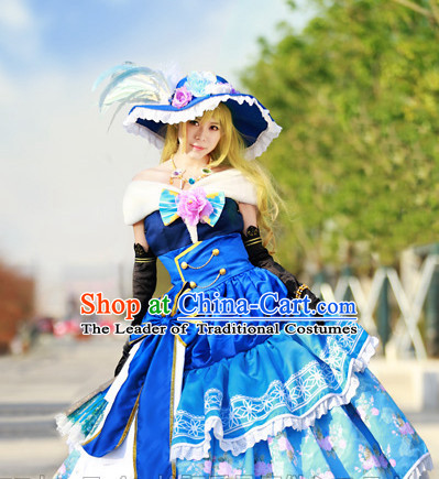 Custom Made Lovelive Cosplay Costumes and Hat Complete Set for Women or Girls